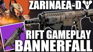 Destiny: PvP In The Tower! Zarinaea-D / RIFT / Titan Sunbreaker / Bannerfall Gameplay - TTK