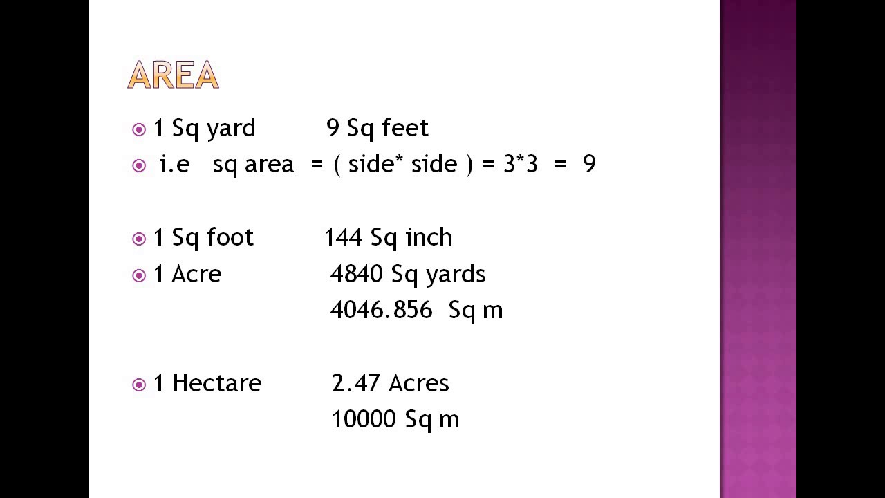 1 acre is equal to how many sq yard