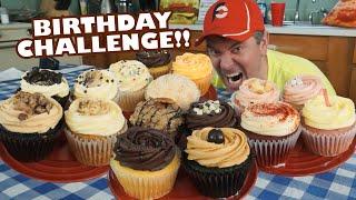 Birthday Cupcake Challenge w/ 16 Different BIG Cupcakes!!