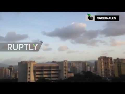 Venezuela: Helicopter drops grenades in attack on govt. buil