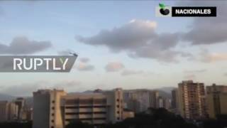 Venezuela  Helicopter drops grenades in attack on govt  buildings in Caracas
