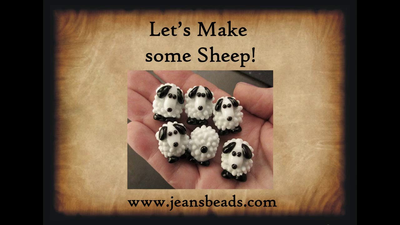 lampwork glass bead tutorial making sheep by jeannie cox