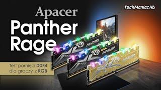 Apacer Panther Rage DDR4 RGB  Pamięci z pazurem!