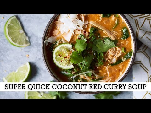 Super Quick Coconut Red Curry Soup // Paleo, Whole30, Keto, Vegan Options