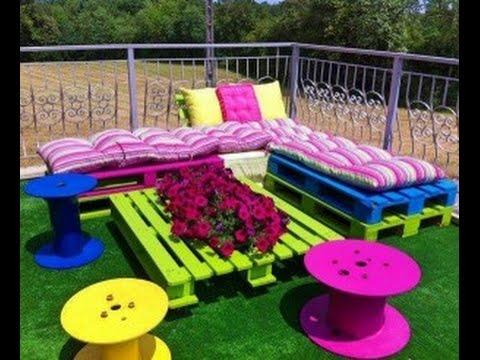 Sofas De Jardim Feitos Com Pallet Youtube