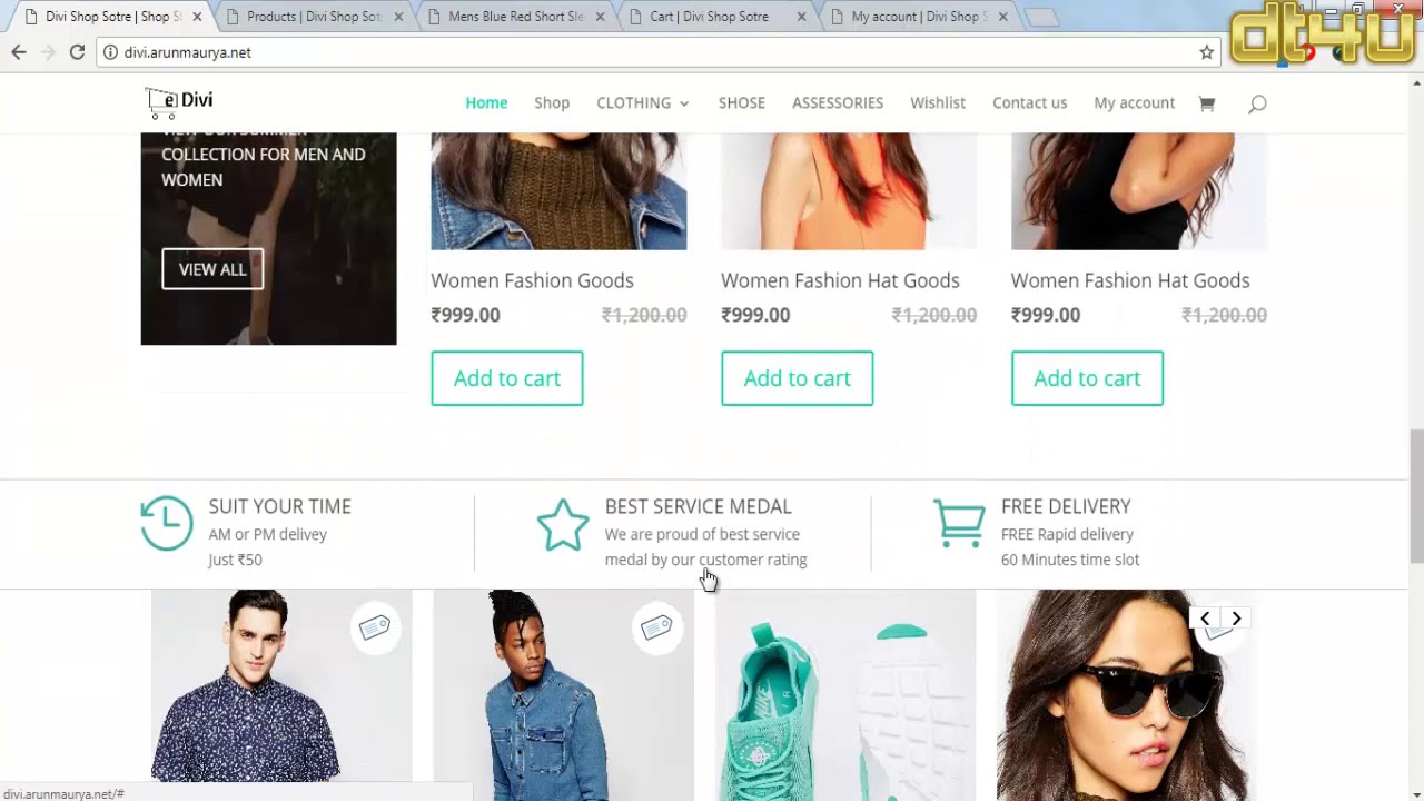 How to Create a Ecommerce Website with Divi Part-1 in Hindi By arunmaurya.net