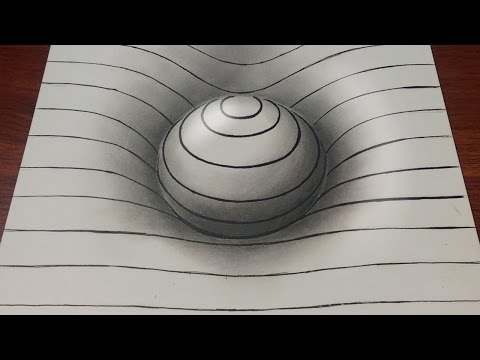Drawing 3d Hole Illusion Anamorphic Painting Doovi
