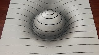 Drawing Easy How to Draw a 3D Sphere with Lines