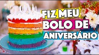 BOLO DE ARCO-ÍRIS DE 6 CAMADAS FACINHO! | KIM ROSACUCA
