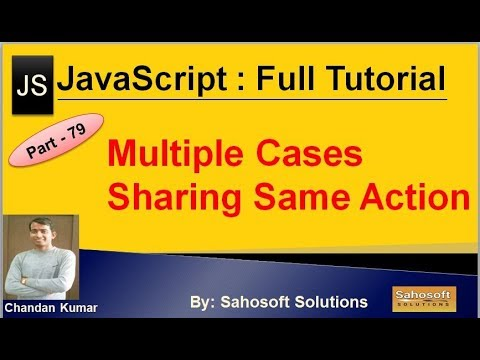 Multiple Cases Sharing Same Action in Switch Statement | JavaScript Full Tutorial in Hindi thumbnail