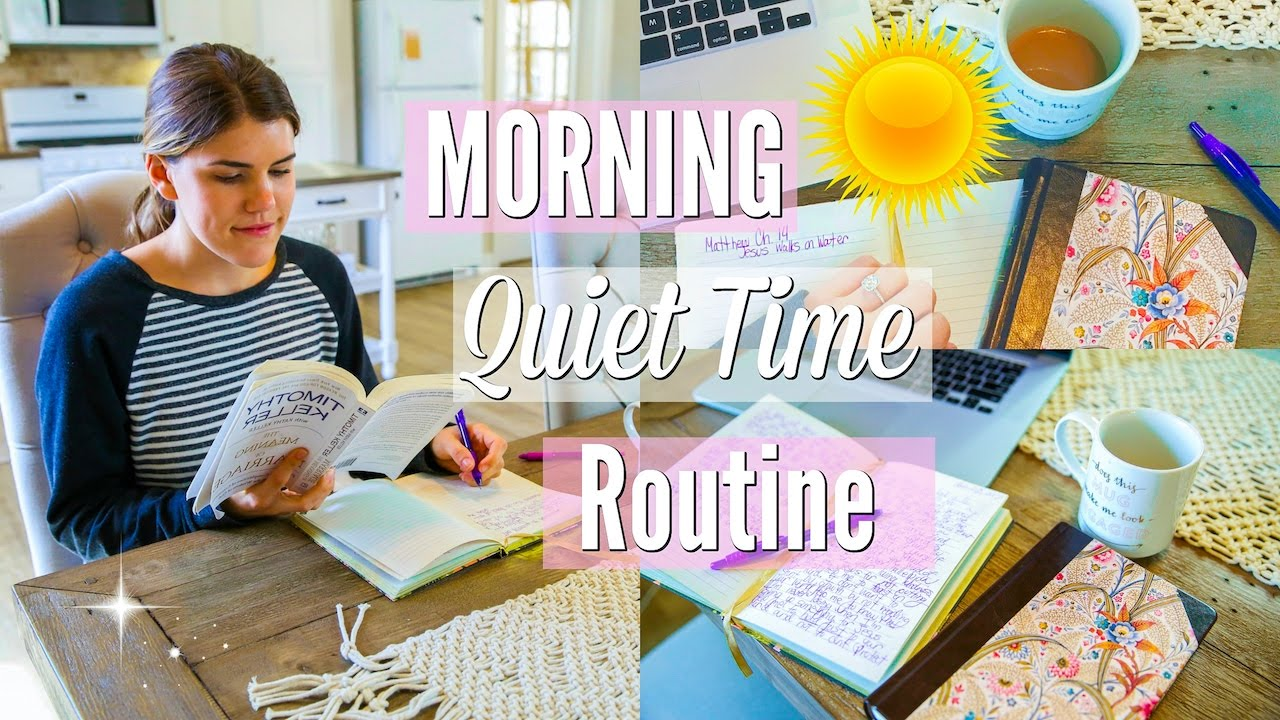 Morning Quiet Time + Devotions Routine! - YouTube
