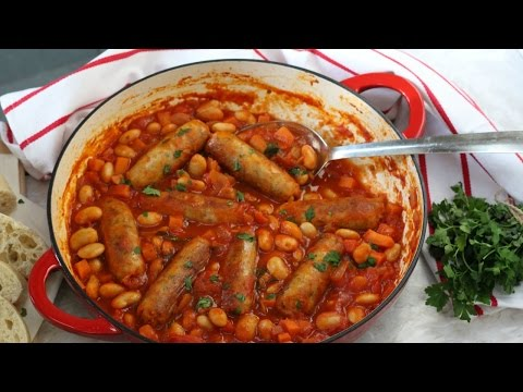 Sausage & Butterbean Casserole | Healthy Family Dinner Recipe