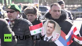 В Москве прошел митинг в поддержку Башара Асада и Сирии