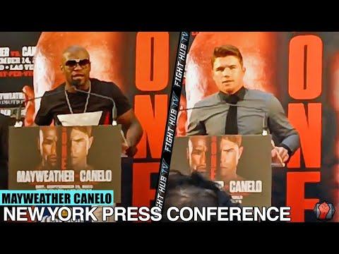Floyd Mayweather Vs  Saul Canelo Alvarez Full Press Conference (Full HD)