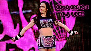 360 COMO CREAR WWE 2K16 AJ LEE NASIL W2K16/TR LEE AJ (XBOX)