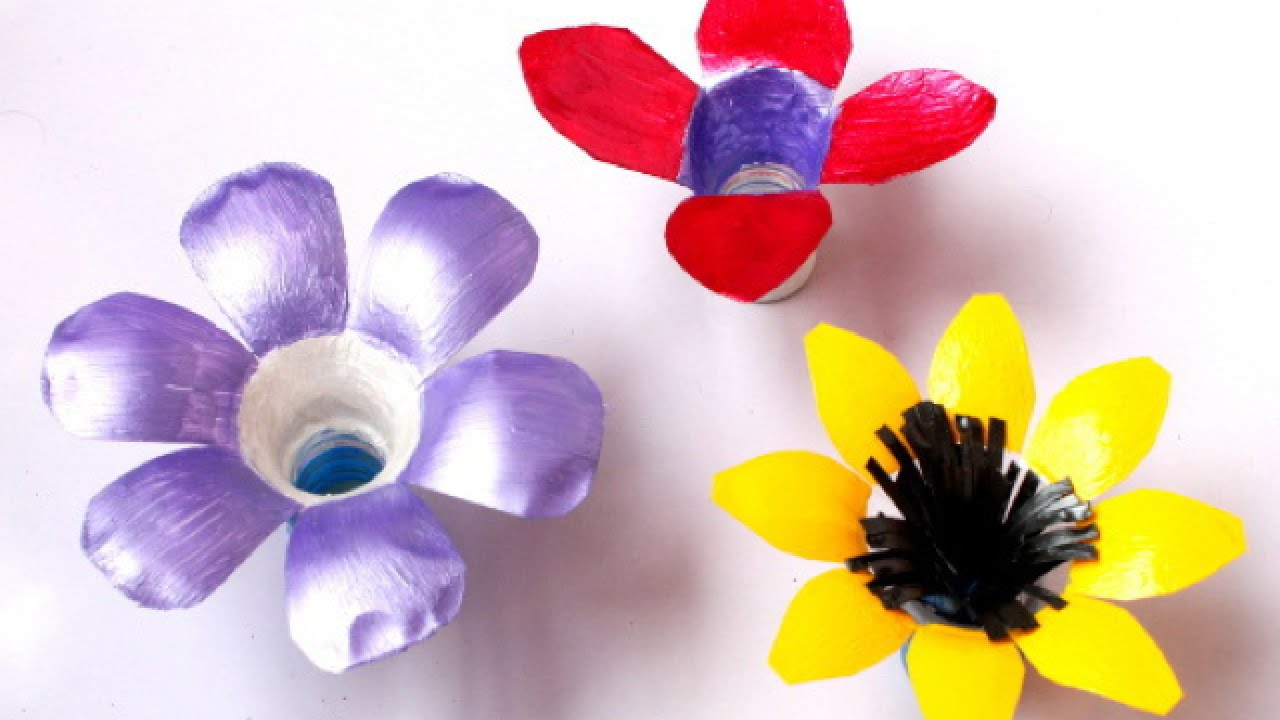 How To Make Pretty Plastic Bottle Flowers