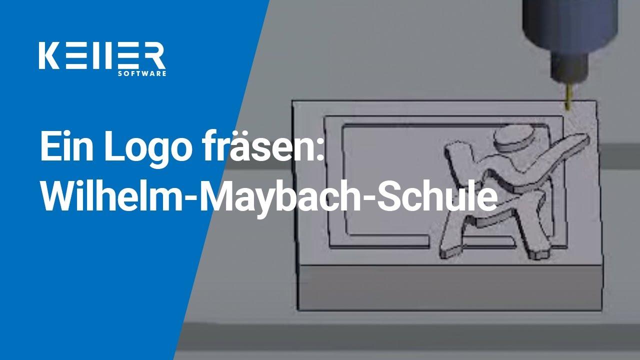 fräsen des logos der wilhelm-maybach-schule, heilbronn - youtube