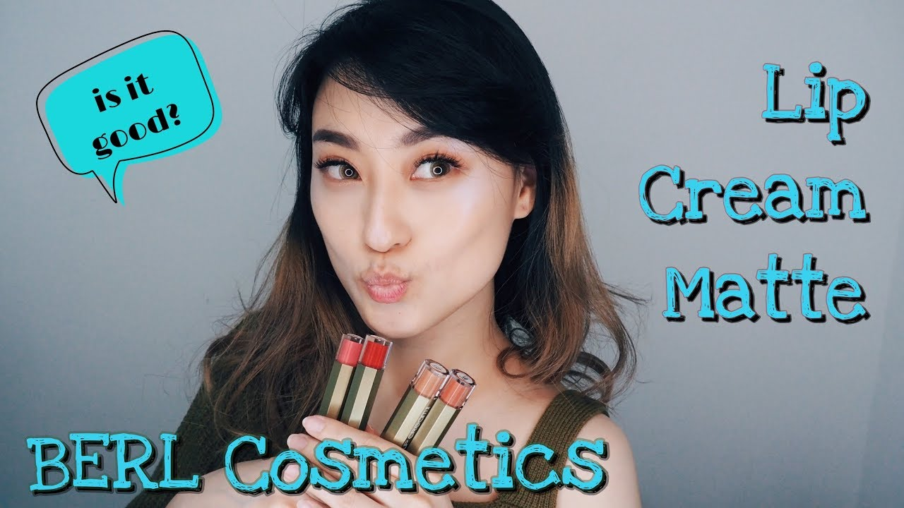 Berl Cosmetics Lip Cream Matte Swatch Review Try Me B Erl