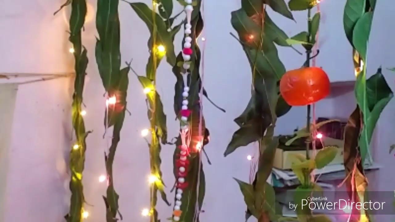 Decoration With Mango Leaves Leaf Ecofriendly Ganpati Idea At Home Mahalaxmi