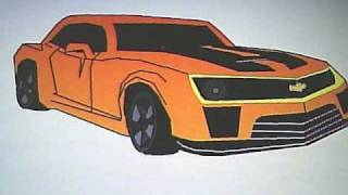 Chevy Camaro Speed Painting in MS Paint