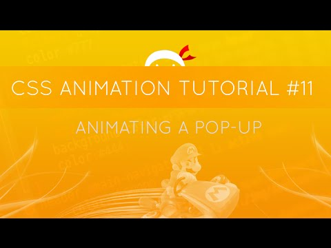 CSS Animation Tutorial #11 - Animating A Pop-up