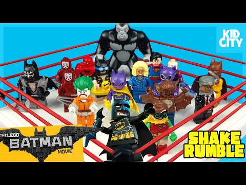 The LEGO Batman Movie Shake Rumble Game with Lego Batman Blind Bag MiniFigures by KidCity