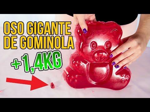 Cómo hacer un OSO GIGANTE de GOMINOLA (Experimentos Caseros)