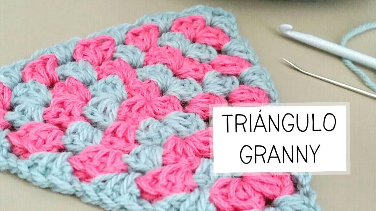 Como tejer un TRIANGULO GRANNY a crochet | Ahuyama Crochet - YouTube