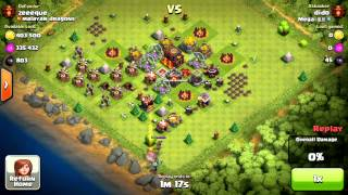 clash of clans ¨who says that you need walls or defenses to be a champ?¨