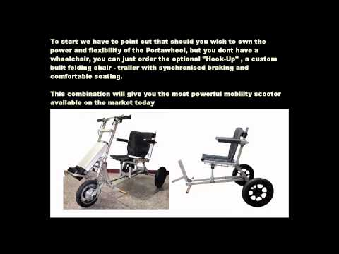 Mobility Scooters - Motorized Wheelchair - Power Assist Wheelchair - Portawheel
