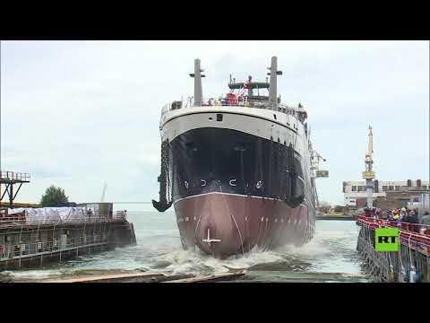 عملية إنزال سفينة الصيد العملاقة في بطرسبورغ بمشاركة الرئيس الروسي  - نشر قبل 7 ساعة