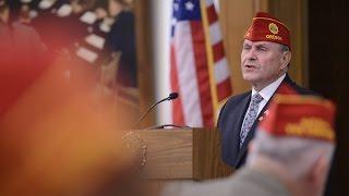 Legion National Commander addresses NEC meeting in Indianapolis