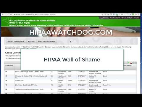 OCR Wall of Shame: Storage Facilities and Email Breaches, July 2017