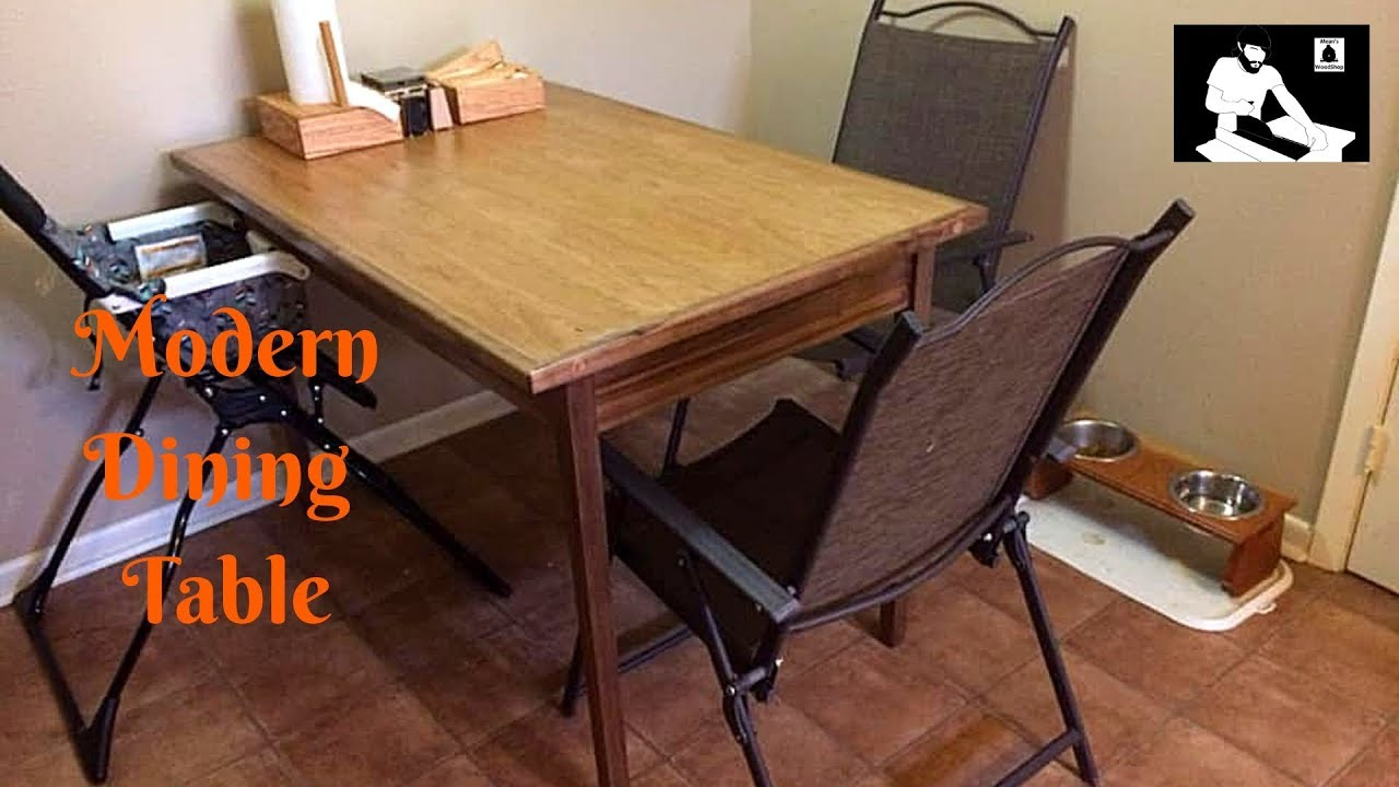 make a dining room dinner table  youtube