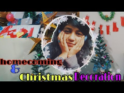 Christmas decoration & homecoming vlog   diy Christmas decor