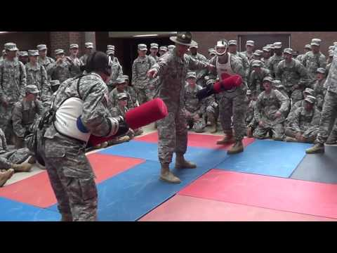 Army Basic Training pugil-stick training