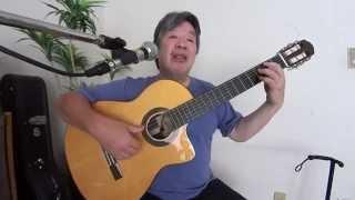Carinhoso(Score+Tab)~Sing&Guitar カリニョーゾ、ジョアン杉田ギター弾き語り
