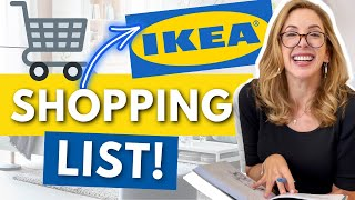 IKEA EXCLUSIVE DESIGNER OK'D SHOPPING LIST!