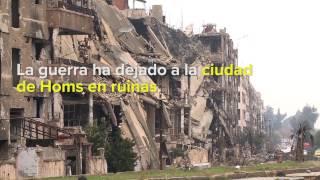 Siria: Alto Comisionado visita la destruida ciudad de Homs