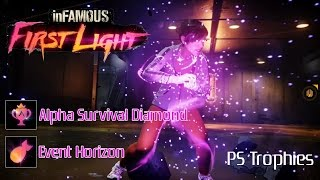 Infamous First Light - Event Horizon + Alpha Survival Diamond Trophies