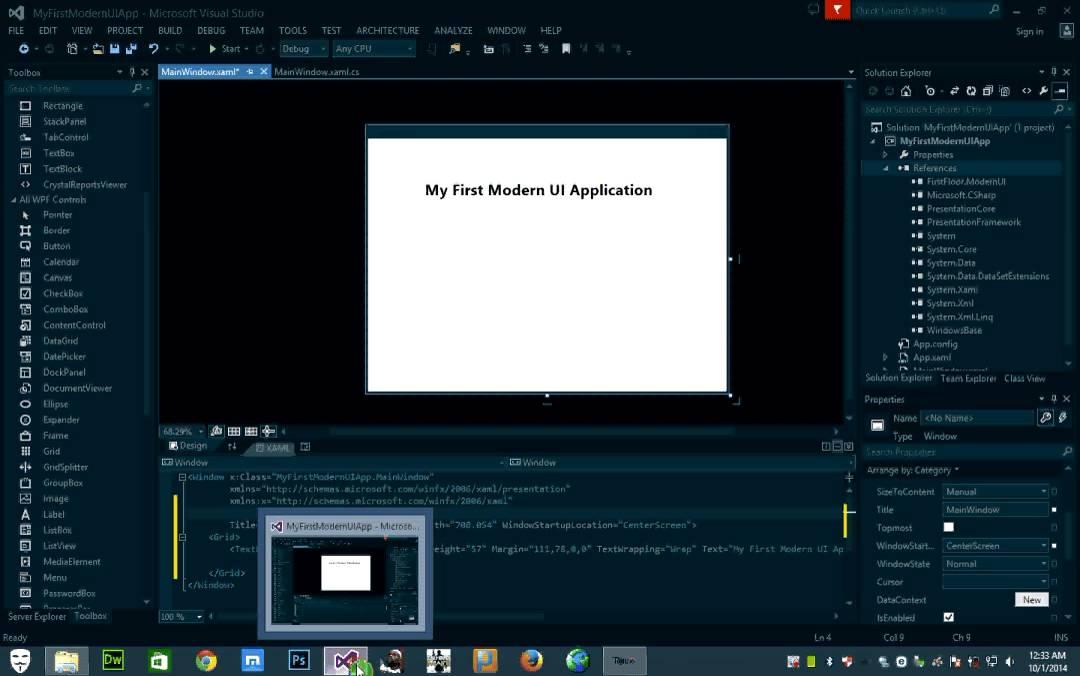 wpf ui templates - modern ui for wpf sample youtube