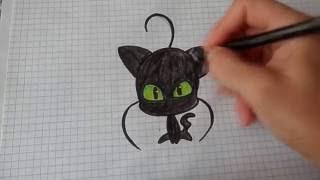 MIRACULOUS LADYBUG Drawing Plug/ Как нарисовать котенка Плаг из Леди Баг #16(Все Видео Канала Рисуем Просто: https://www.youtube.com/channel/UCAELj3U5vke9DhuTJIabMGw Смотрим и рисуем вместе со мной! Спасибо..., 2016-09-14T12:49:20.000Z)