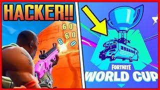 CAUGHT A HACKER IN Fortnite'S WORLD COPPA!! How did he do that? **