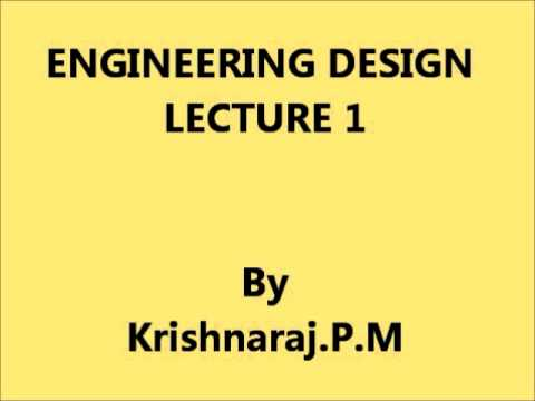 Engineering Design - Lecture 1