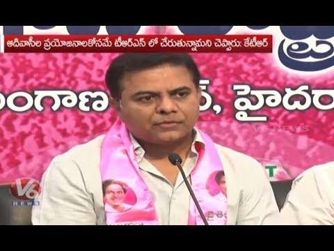 KTR Serious Comments On Uttam Kumar Reddy | TRS Working President KTR | V6 News