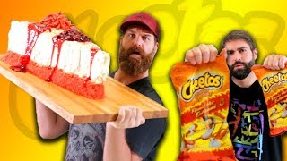 60lb Flamin' Hot Cheetos Cheesecake - Epic Meal Time
