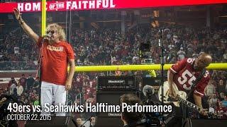 Sammy Hagar 49ers vs Seahawks Halftime Performance 10/22/15
