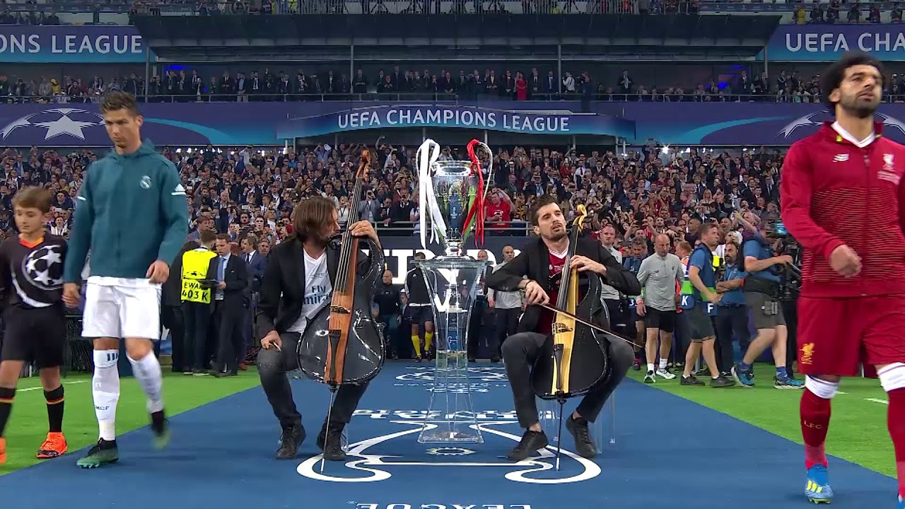 2CELLOS performance at the 2018 UEFA Champions League ...