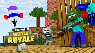 MONSTER SCHOOL : FORTNITE BATTLE ROYALE CHALLENGE - Best Minecraft Animation