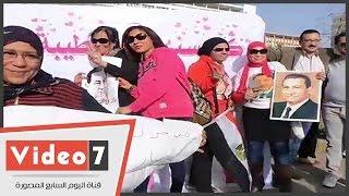 """مؤيدو الرئيس الأسبق لسوزان مبارك: """"كل سنة وأنتى طيبة يا ست الحبايب"""""""